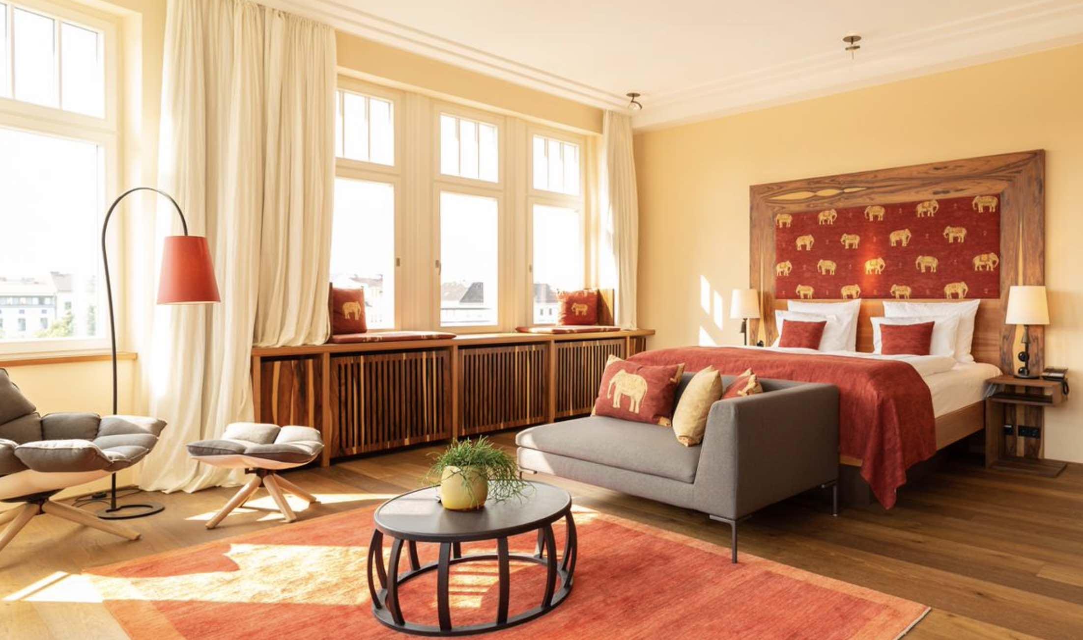Orania.Berlin luxury bedroom with big windows