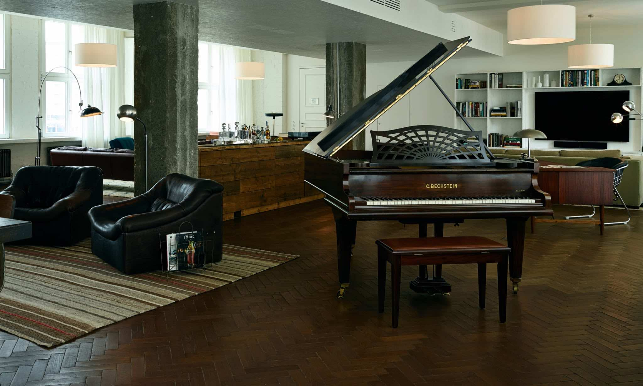 soho House-berlin-apartments-hero unique hotels in Berlin with piano and bar
